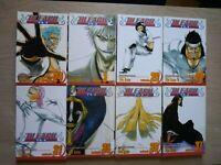Bleach 24-26, 28, 31, 35-37, Lot of 8 Shonen Manga, English, 13+, Tite Kubo