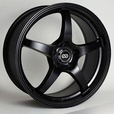 15x6.5 Enkei VR5 4x100 +38 Black Rims Fits Accord Integra Civic Miata Fox