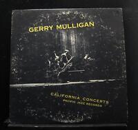 Gerry Mulligan - California Concerts LP VG+ PJ LP-1201 Mono 1st 1955 Record