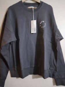 7 DAYS ACTIVE Monday Crew Neck Sweatshirt Dark Grey Size L New  Retails £116
