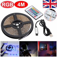 4m USB LED Light Strip RGB Multi-color TV Backlight Changing Remote 5v Kit Decor