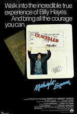 MIDNIGHT EXPRESS Movie POSTER 27x40 B John Hurt Randy Quaid Brad Davis Paul