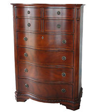 Heritage Mahogany Traditional 7 Drawer Tall Chest of Drawers with Dovetails