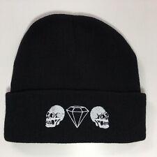 Skull Diamond Beanie Hat Embroidered Fashion Slogan
