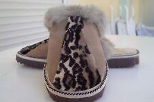 Ecru Handmade Leather - Mouton Sheepskin Lined Slippers