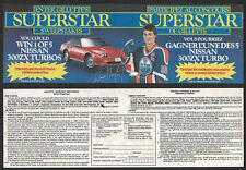 1986-87 Gillette's Superstar Sweepstakes Entry Forms (2), Oilers' Wayne Gretzky