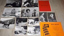 jacques brel MONT-DRAGON ! rare photos presse cinema argentique + scenario 1970