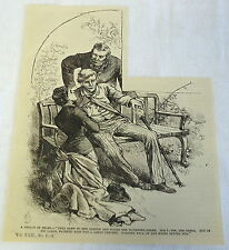 1886 magazine engraving ~ LEGACY OF TEARS, man + woman rush to older man's side