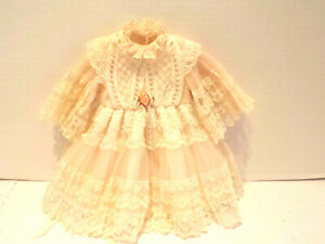 Pretty White Lace Victorian Style Doll Dress for Antique Bisque or China Doll