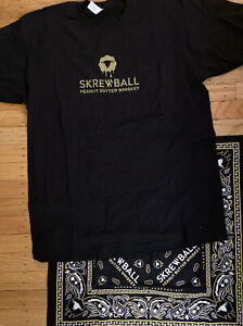 Skrewball Peanut Butter Whiskey Adult Black L T-shirt & Bandana Vintage Delta