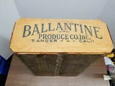 Produce Crate With Advertising - Ballantine Produce Sanger Cali
