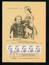 US FDC #1847 Lindy Card 1983 Watertown WI Carl Schurz Journalist