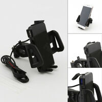 USB Charger Cell Phone Holder for Honda Forza Ruckus Reflex Elite Silver Wing