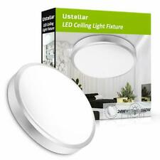USTELLAR 24W LED Ceiling Light Ultra Thin Flush Mount Round Home Fixture 14inch