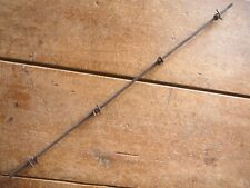 GLIDDEN FOUR POINT BARB on CHANNELED SQUARE LINE - ANTIQUE BARB BARBED WIRE