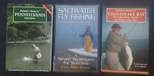 Fly Fishing Book Lot (3) ~ PENNSYLVANIA ~ CHESAPEAKE BAY ~ SALTWATER