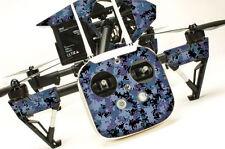 DJI Inspire 1 Quadcopter/Drone, Transmitter, Battery Wrap/Skin | Digi Camo Blue