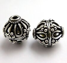 STERLING SILVER PLATED 18K GOLD PLATED HANDMADE BALI BEAD GENUINE COPPER   B 3