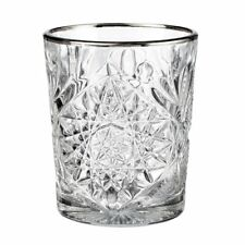 Libbey Whiskyglas Hobstar Silberrand