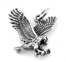 "SILVER EAGLE CHARM WITH 18"" BOX CHAIN NECKLACE"
