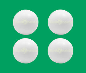 4 Smooth Foosballs White - Smooth Table Soccer Balls