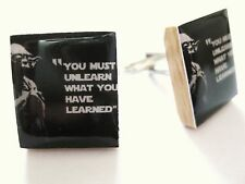 Yoda Cufflinks ~ Star Wars Cufflinks Yoda Quote handmade Movie Cufflinks Yoda