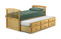 3FT Single Cabin Bed with Underbed Storage and 3FT Single Pull Out Trundle Bed