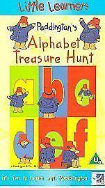 PADDINGTON'S ALPHABET TREASURE HUNT VHS PAL UK VIDEO