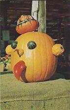 """Halloween-""The Decorated Pumpkin""  /Display in New England/ 'Postcard' #86"