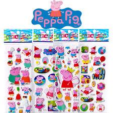 Peppa Pig Stereo Sticker Lot Of 6 100% NEW Kids Favorite Amazed Birthday Gift