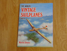 The World's Vintage Sailplanes 1908-45 Martin Simons 1986 HB with Poster NM Rare