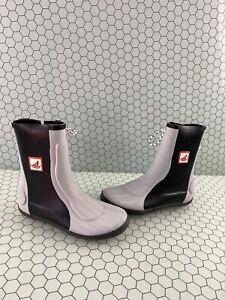 Sperry Top-Sider Seahiker Gray/Black Rubber Waterproof Side Lace Boots Men's 6