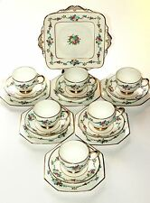 Paragon Star China, Art Deco Hand Painted Tea Set.