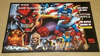 VINTAGE PROMO MARVEL COMICS CAPTAIN AMERICA POSTER BY ROB LIEFELD 1996 RARE