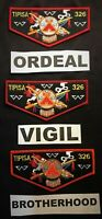TIPISA OA LODGE 326 BSA CENTRAL FLORIDA ORDEAL VIGIL BROTHERHOOD 3-PATCH SET