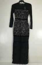 NWT Guess by Marciano Lace Black Evening Maxi Dress Sz S
