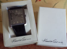 Kenneth Cole Reaction Classic Black Leather Mens Watch NEW