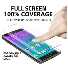 TPU Curved Full Coverage Screen Protector Film Cover For Samsung Galaxy S6 Edge