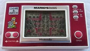 Nintendo Game & Watch - Mario's Cement Factory / ML-102 (1983)