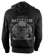 Rebel On Wheels Biker-Hoodie Motorcycle Hoodie Aramid American Moto Unisex Black