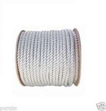 "Three Strand White Nylon Rope 5/8"" x 100'"