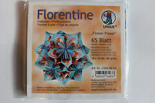 Faltblätter Florentine Flower Power 02; 65 Blatt 10 * 10  cm 80 g/qm