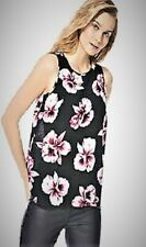 Womens Tie-back Top Orchid Floral Print Casual Vest new Size 8-10-12-14-16-18-20
