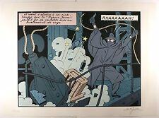 Blake & Mortimer Jacobs Sérigraphie signée La Marque jaune Olrik Comme neuf