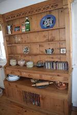 7ft buffet hutch hardwood pine wood dining/living room furniture rustic kitchen
