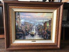 Framed Heart of San Francisco Thomas Kinkade GP 860 18x24 Canvas Giclee