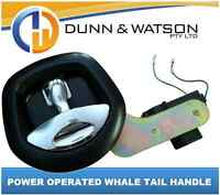 12 volt Power Operated Black Recessed Folding T Lock / Handle Drop T Whale Tail