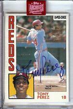 Tony Perez 2019 Topps Archives Buyback Auto 1984 O-Pee-Chee Reds #385 03/27