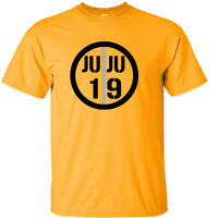 GOLD JuJu Smith-Schuster Pittsburgh Steelers Logo T-Shirt