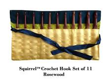 "Squirrel 6"" Long Rose Wood Crochet Hook - Set of 11"
